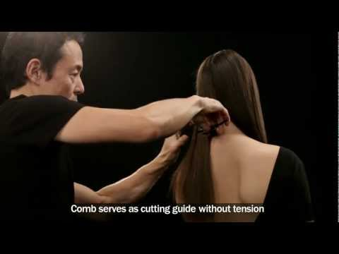 Haircut tutorial on brown hair- SHU UEMURA ART OF HAIR