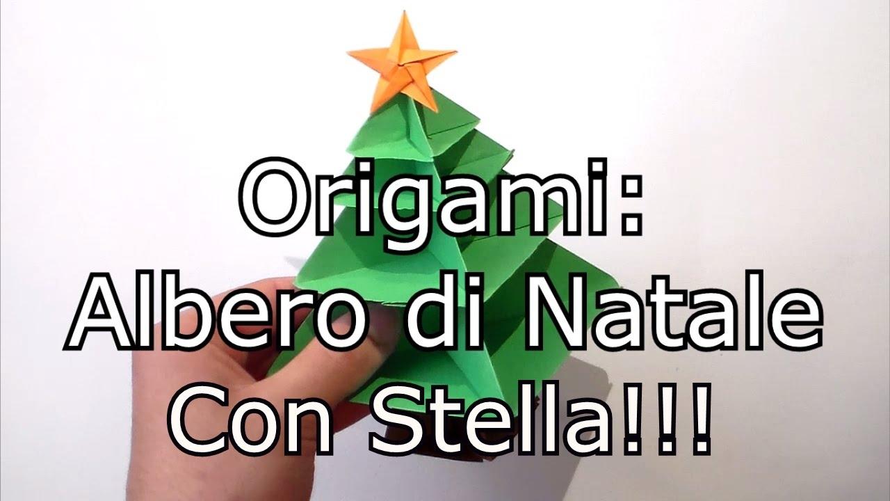 Albero Di Natale Origami.Origami Stella Per L Albero Di Natale Facile Youtube
