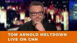 Tom Arnold meltdown LIVE on CNN. Trump Derangement Syndrome claims latest victim