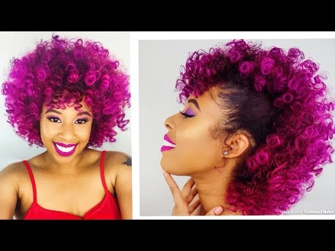 Dying My Hair Purple/Mohawk/Adore Violet Gem