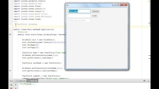 JavaFX. Tutorial#8. GridPane, TextField. (Урок 8, видеоурок, Текстовое поле, решетка) Rus.