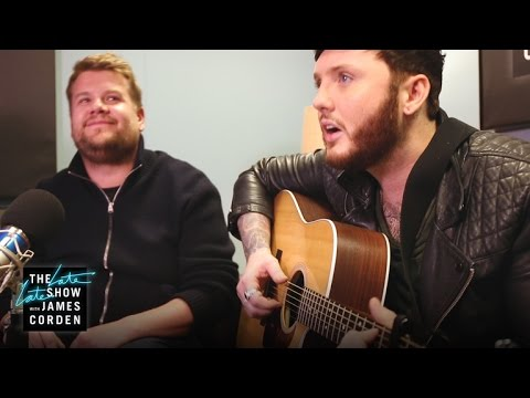 James Corden Auditions for James Arthur