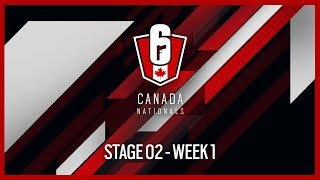Rainbow Six Siege: LIVESTREAM Canada Nationals - Year Two | Stage 2 - Week 1 | Ubisoft [NA]