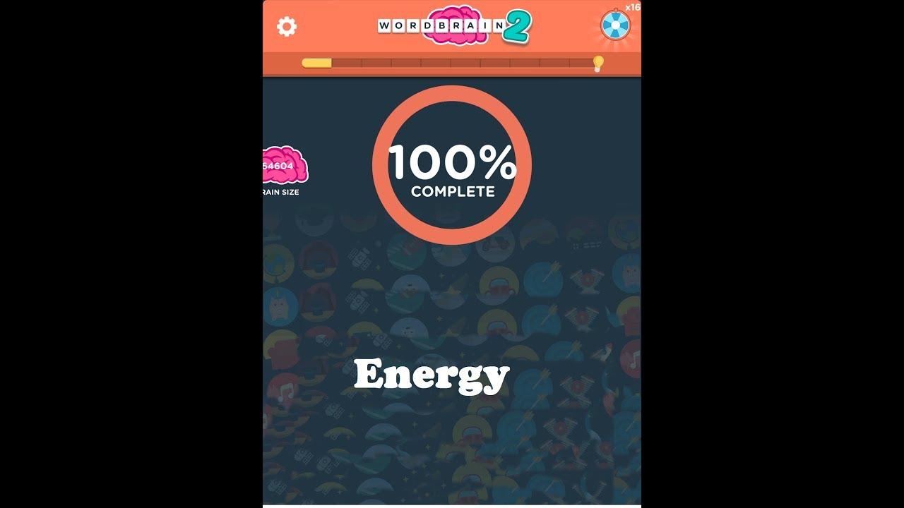 Wordbrain Energy Answers