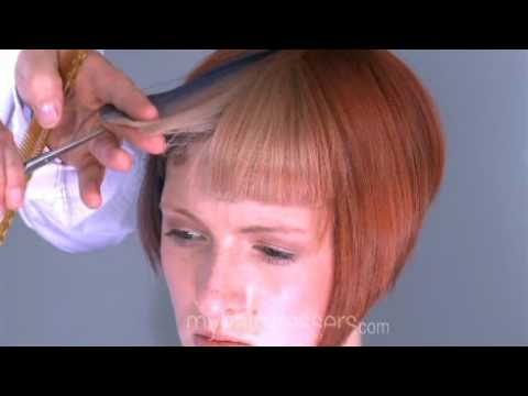 Hair Style Training : ... square bangs fringe style training Hair Cut Hairdressing - YouTube