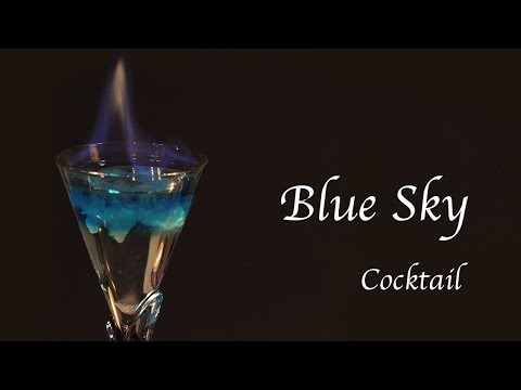 Beautiful Cocktail: How To Make Blue Sky Cocktail | Cafe Yooky