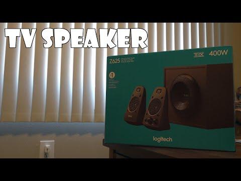 Logitech Z625 Speaker System Unboxing and Setup!!