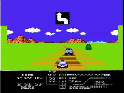 3D Hot Rally gameplay, Famicom disk system FDS