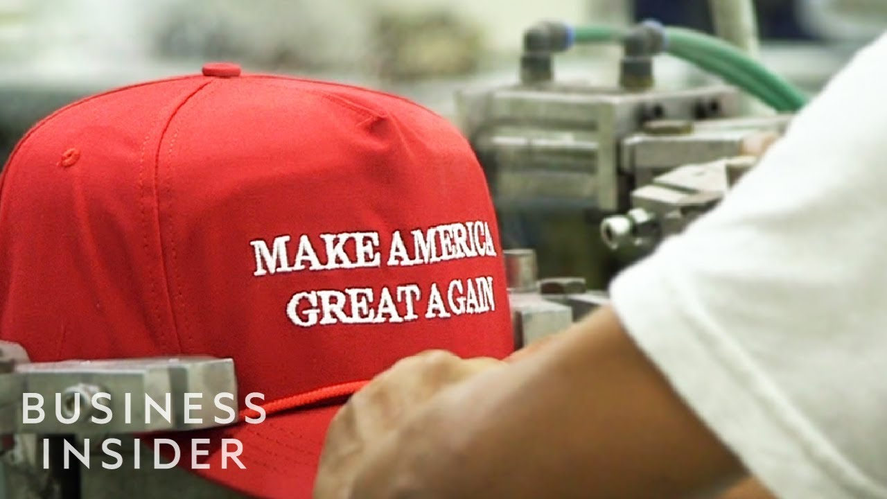 Inside The Trump MAGA Hat Factory - YouTube d996429a90b