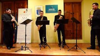 El Quartet de saxòfons DSK interpreta Piazzola el 5 de Maig de 2013...