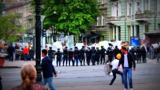 Odessa, Ukraine: Maidan activists and Right Sector attacking the city