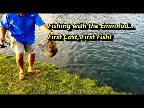 Fishing With The EmmRod... First Cast, First Fish! #emmrod #fishing