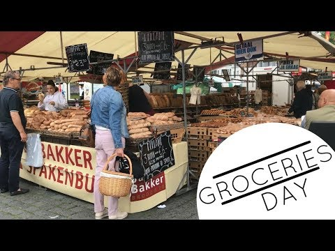 Groceries Shopping at Farmer Market in Den Bosch, Holland