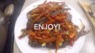 FRIED FISH WITH BLACK BEAN SAUCE   EASY RECIPE   ASIAN FOOD
