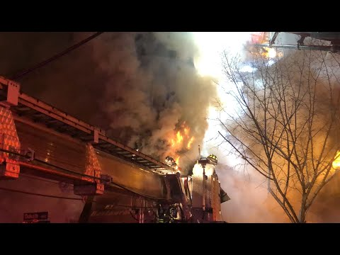 11-18-18   4th Alarm Working Structure Fire   Prior Explosion    Perth Amboy FD