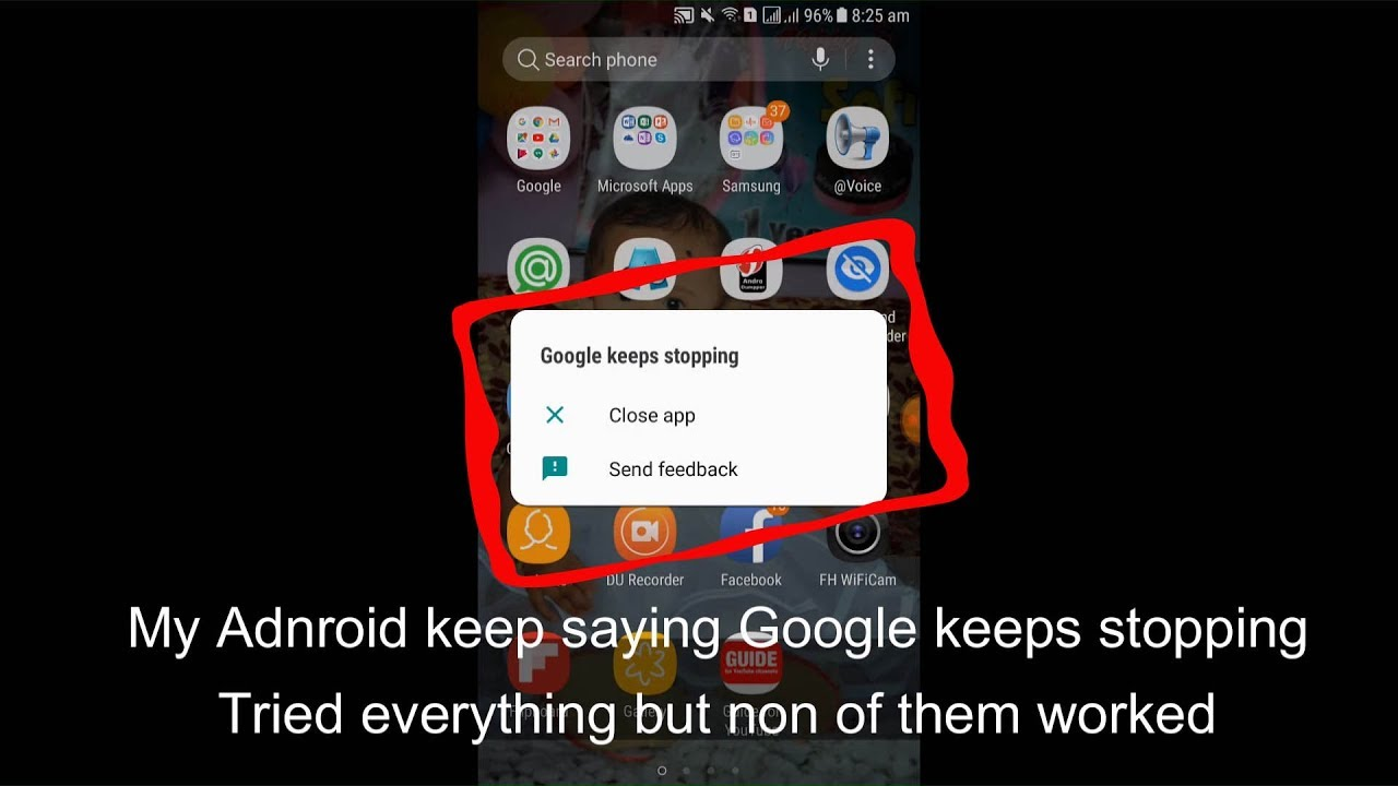 Google Keeps Stopping On Android 2019 100% Solved