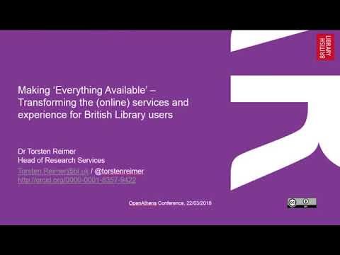 Torsten Reimer -Transforming the online services and experience for British Library