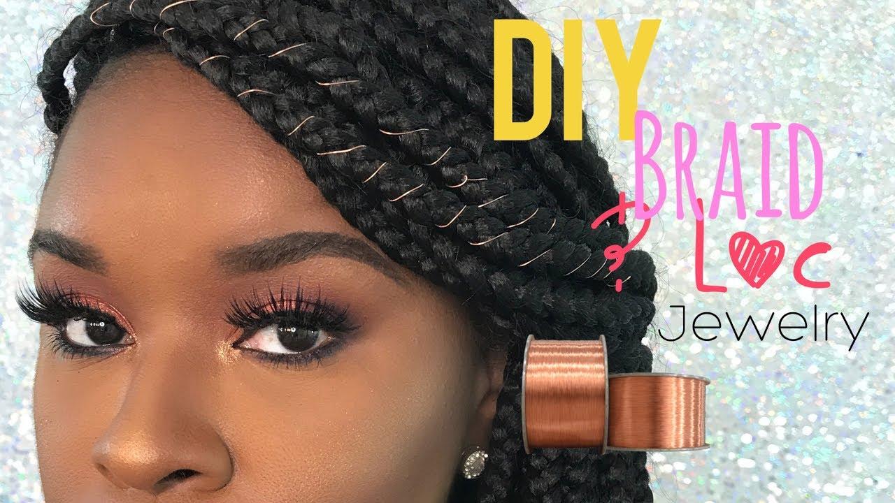 DIY   Braid & Loc Jewelry Using Wire - YouTube