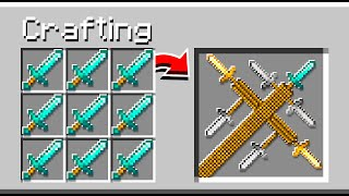 Crafting 5 *NEW* GOD Swords In MINECRAFT!