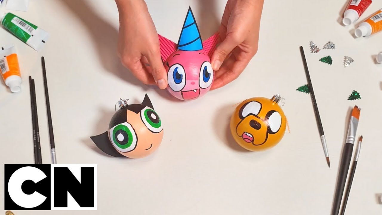 Cn Your Christmas Make Your Own Cartoon Baubles Cartoon Network