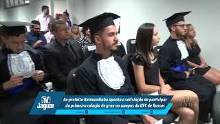 Raimundinho aponta a satisfação de participar da primeira colação de grau no campus da UFC de Russas