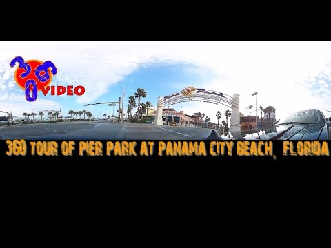 360 Video around Pier Park Panama City Beach Florida - Kodak PixPro SP360