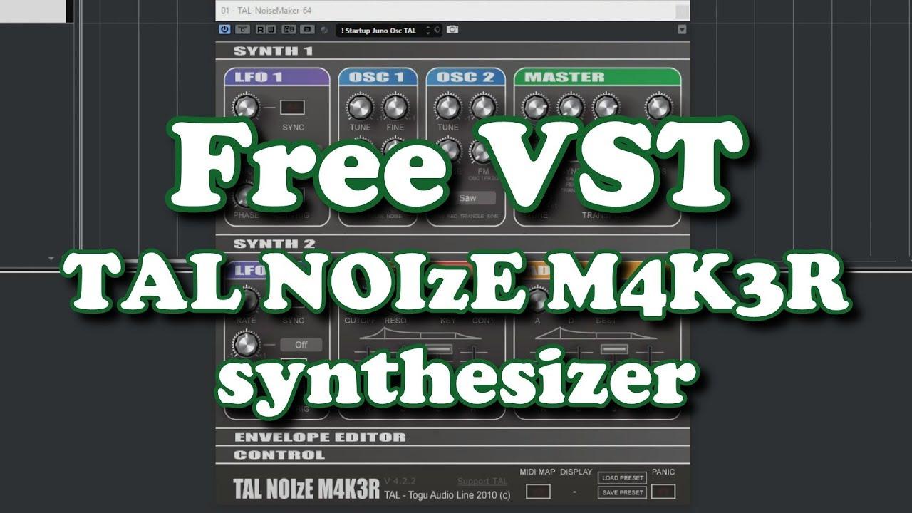 Free VST - TAL Noise Maker Synthesizer