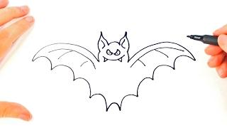 How to draw a Bat | Bat Easy Draw Tutorial