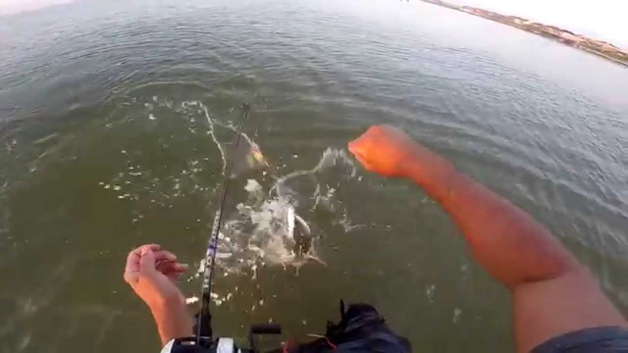 Surfside tx fishing topwater speckled trout gopro hero3 for Surfside fishing report