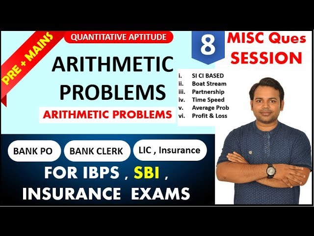 Arithmetic problems - QUANTITATIVE APTITUDE (Bank Po and Clerk EXAM) || IBPS , SBI by Oliveboard