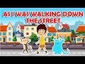 As I Was Walking Down The Street - Rig a Jig Jig Rhyme || Popular Nursery Rhymes With Max And Louie