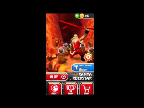 Metal Xmas Santa Rockstar (Gameplay) Android / iOS