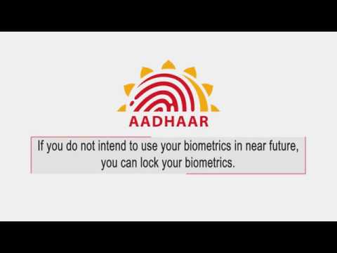 How to Lock/Unlock your Biometrics in Aadhaar?