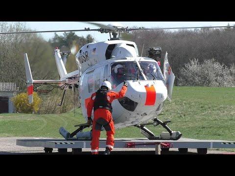 [HD] DHDSR Air Ambulance 02 Offshore Bk 117C1 departure EDCG