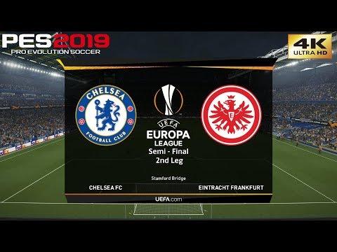 PES 2019 (PC) Chelsea vs Eintracht Frankfurt | UEFA EUROPA LEAGUE SEMI FINAL 2nd Leg | 9/5/2019 | 4K
