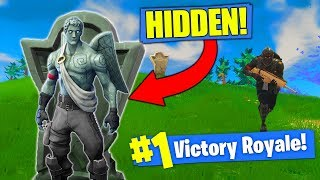 THE INVISIBLE GARGOYLE STRATEGY In Fortnite Battle Royale! thumbnail