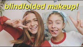 BLINDFOLDED MAKEUP CHALLENGE ON MARLA CATHERINE & SUMMER MCKEEN *gone wild*
