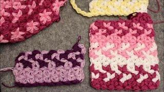 356492f5768 Change Colors - Puffed Star Stitch Rectangle - Crochet Tutorial - Baby  Blanket or Scarf