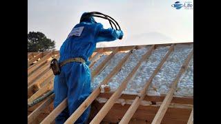 경기도 양평군 한옥 주거단지 한옥 지붕 단열 시공 영상…