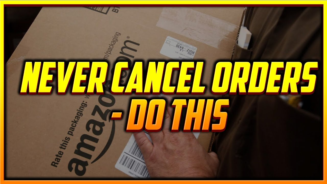 Never Cancel Orders - Do this Instead