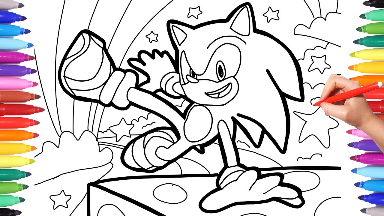 sonic the hedgehog movie tails coloring pages
