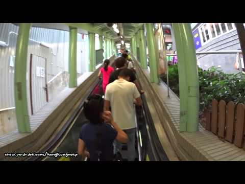 World's Longest Escalator Systems - Hong Kong Central Mid-level