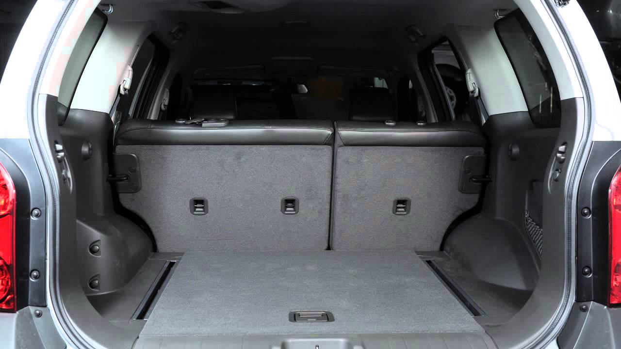 2012 Nissan Xterra Folding Rear Seats Youtube