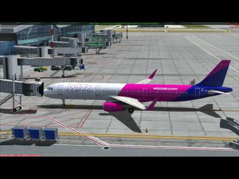 FSX Bucharest to Madrid Aerosoft Airbus A321- part 1