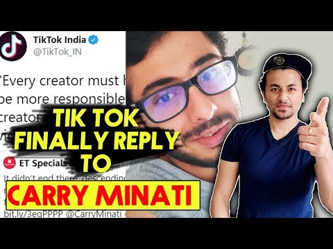 Tik Tok FINALLY Replies To Carry Minati; Here's What Happened | Youtuber Vs Tik Toker Controversy