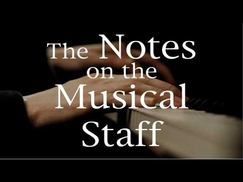 The Notes on the Musical Staff