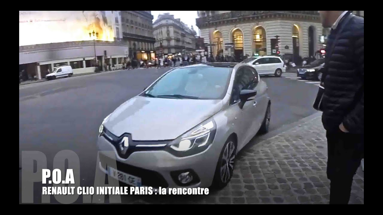 renault clio initiale paris la pr sentation youtube. Black Bedroom Furniture Sets. Home Design Ideas