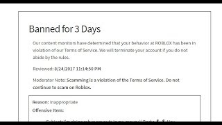 IM BANNED ON ROBLOX!