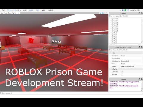 Roblox Prison Game Development Stream Roblox Studio Live Stream