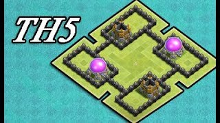 EPIC Town Hall 5 Defense ( TH5) BEST FARMING Base Layout Strategy I Clash Of Clans (COC) 2017